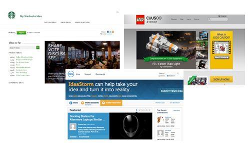 ejemplos de plataformas de innovación basadas en preguntar a los clientes de una marca
