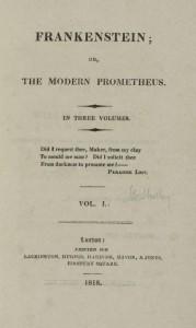 Frankenstein. Primera edición