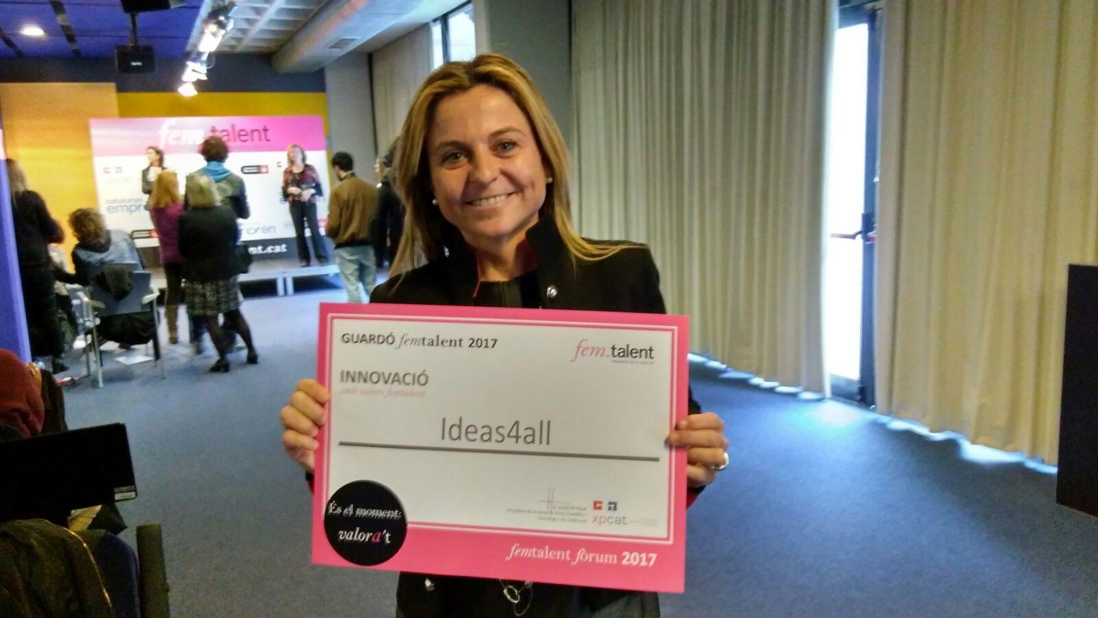 premio femtalent 2017 en la categoría de innovación