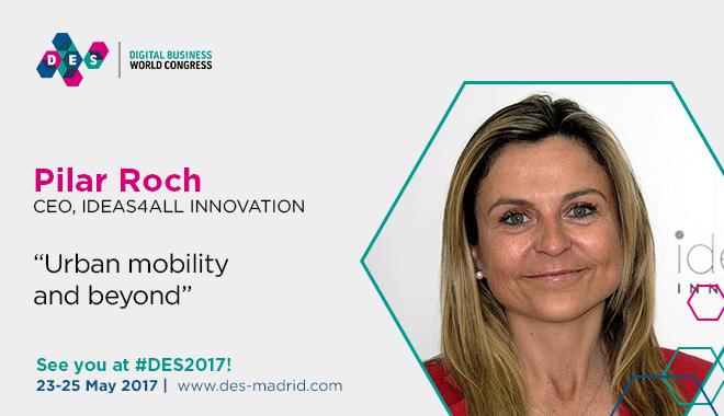 Pilar Roch moderará en DES 2017 una mesa redonda sobre smart cities