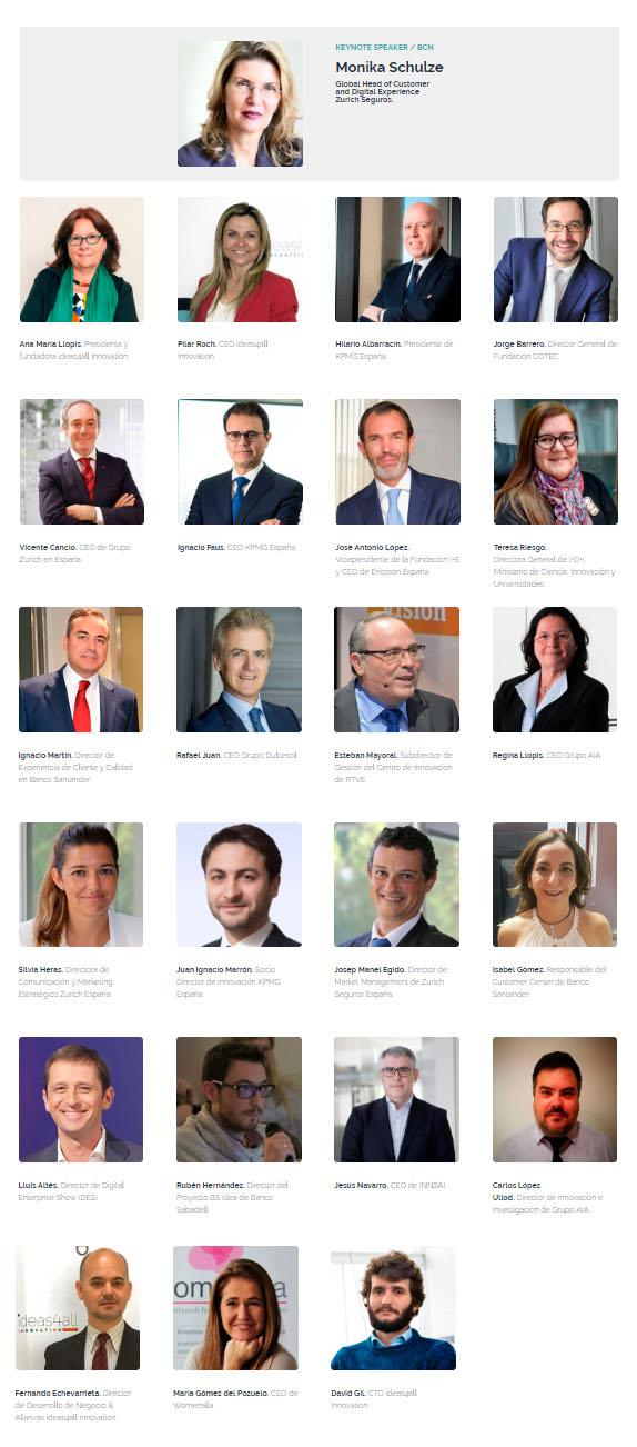 ponentes de innovationHUB 2018, la cita de la innovación colaborativa