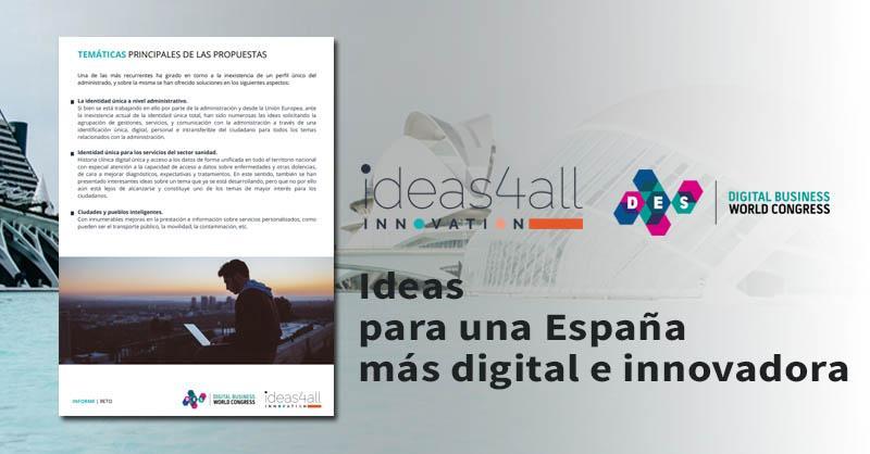 """""""Ideas para una España más Digital e Innovadora"""", una hoja de ruta fruto de la inteligencia colaborativa"""