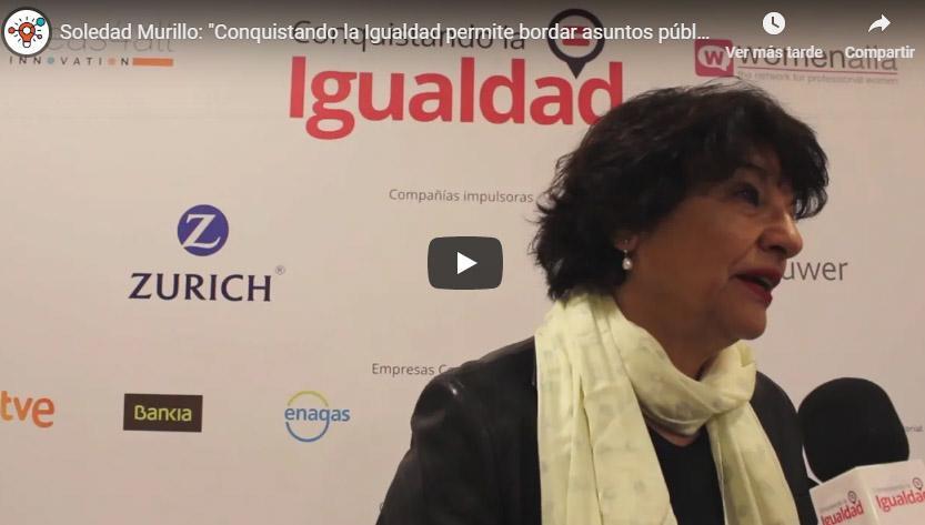"""Soledad Murillo: """"Conquistando la Igualdad permite ser más ambicioso a la hora de abordar asuntos públicos"""""""