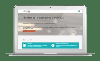 portal de comunicación interna de un programa de innovación