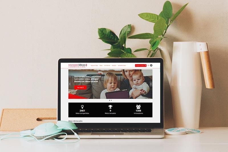 comunidad de innovación con clientes del banco santander